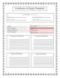 certificate of origin template madinbelgrade