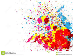 abstract paint color and splatter color background stock vector