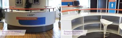 Reception Desk Hire Event Accessories Hire Ireland Applied Signs Display Dublin
