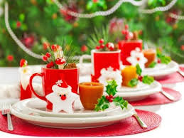 Christmas Table Decoration Red by 5 Simple Themes For Christmas Table Decorations