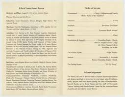 Paper For Funeral Programs Funeral Program For Louis James Brown November 18 2011 The