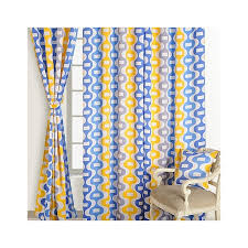 Yellow And Blue Curtains Buy Yellow Blue Sigma Curtains Modern Printed Curtains In