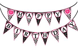paris happy birthday banner printable instant download