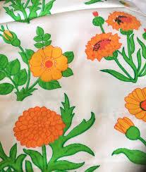 60s design 60s vintage fabric retro scandinavian design floral pattern
