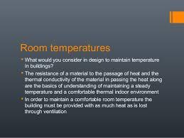 Comfortable Indoor Temperature Basic Factors That Affect Human Comfort