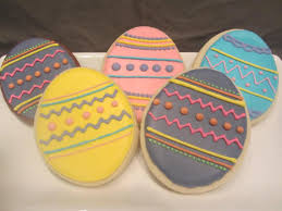 Decorating Easter Eggs With Icing by Easter Egg Cookies Easter Wikii