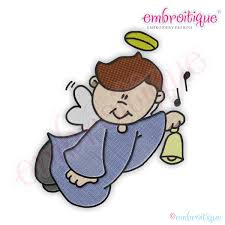 embroitique boy angels 5 embroidery design