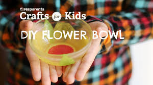 tissue paper flower bowl crafts for kids pbs parents youtube