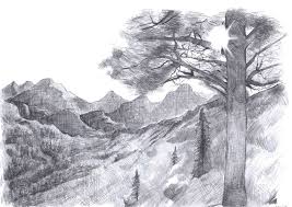 simple pencil sketches of scenery pencil drawing collection