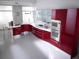Shiny White Kitchen Cabinets by How To Choose The Right Stylish Red Kitchen Cabinets For Any