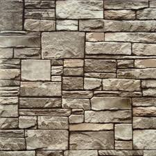 10m roll modern natural rustic grey off white red brick stone wall