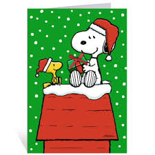 snoopy on roof greeting cards