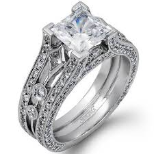 simon g engagement rings g princess cut engagement ring 18k white gold