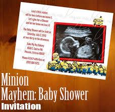 minions baby shower minion baby shower invitations kawaiitheo