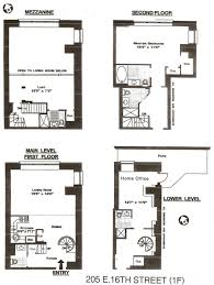 Multi Level Floor Plans 205 East 16th Street Apt 1f U2013 2239sf Multi Level 2 Bedroom Home