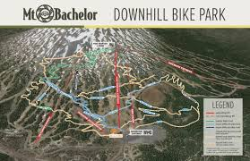 Bend Oregon Map Mount Bachelor Bike Park Mountain Bike Trail In Bend Oregon