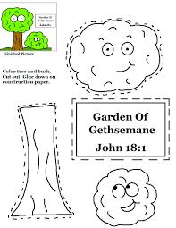 garden of gethsemane cutout activity sheet for kids sunday