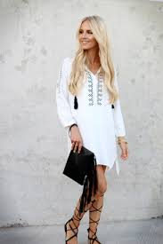 white embroidered dress gladiator sandals u0026 fringe clutch feel