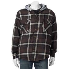 Rugged Wear Clothing U0026 Tall Victory Rugged Wear Plaid Flannel Hooded Shirt Jacket