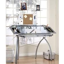 Drafting Table Design Studio Rta Design Futura Tower Glass Top Drawing Drafting Table On