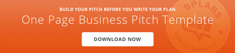 how to write a one page business plan bplans