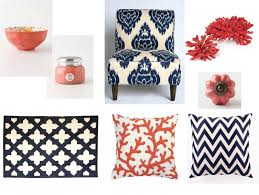 coral meets navy home decor love of family u0026 home