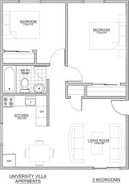floorplans university villa apartments