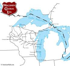 Chicago Trains Map by The Wisconsin Central Railway