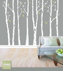 wall birch tree decal forest birch trees birch trees vinyl zoom