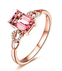 pink gold engagement rings beautiful 1 carat pink sapphire and diamond engagement ring in