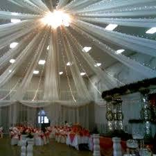 tenture plafond mariage tenture mariage en tulle blanc décoration de salle mariage