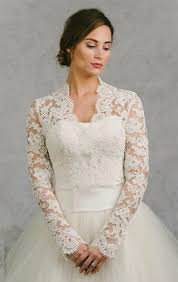wedding dress with bolero lace sleeve bridal bolero 2016 custom made ivory v neck