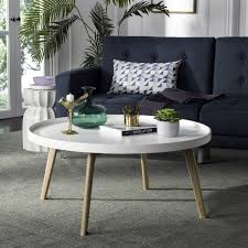 Contemporary White Coffee Table by Fox8207a Coffee Tables Furniture By Safavieh