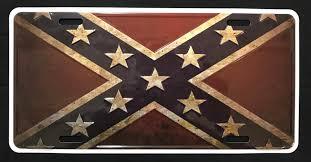 Confederate Flag Pin Barnwood Confederate Flag License Plate Confederate Shop