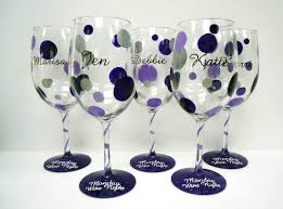 wine glass painting polka dot wine glass pendragon artworks