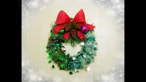 how to make a christmas ornaments wreath craft tutorial youtube