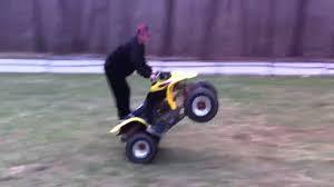 honda 250ex first wheelie youtube