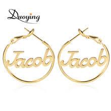 hoop earrings with name online get cheap custom name hoop earrings aliexpress