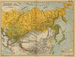 Russian Map Of Asia 19th Century