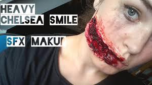 chelsea smile extreme halloween sfx makeup tutorial youtube