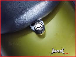 willie skull logo emblem seat bolt fits harley davidson dyna