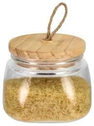 home basics glass jar with airtight wood lid contemporary