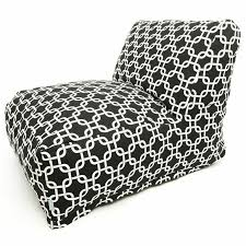 black and white links lounger foam bean bag chair free shipping