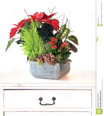 christmas floral arrangement stock photo image 63087163