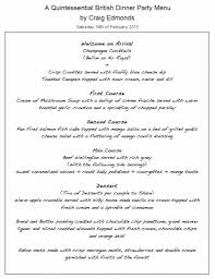 charming dinner party menues part 11 theme party menu home