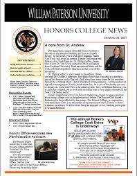 Honors And Activities For Resume Honors Home William Paterson University