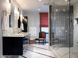 black tile bathroom ideas black and white bathroom designs hgtv
