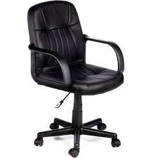 Leather Office Chair Comfort Products 60 5607m Mid Back Leather Office Chair Black