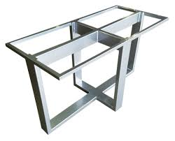 quin metal table base traditional transitional dining room