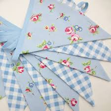 Fabric Shabby Chic by Fabric Bunting Banner Shabby Chic Style Pale By Allthetrimmingsuk
